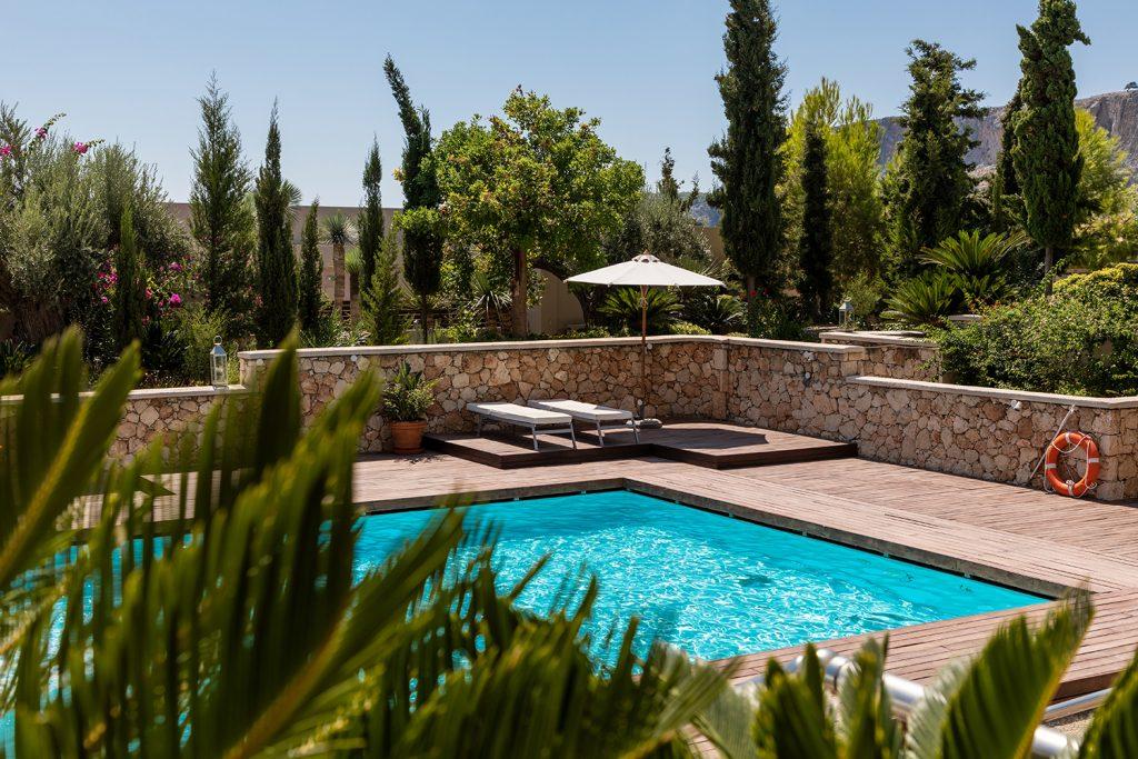 Casa de férias, casa rural, alojamento de turismo rural, com piscina e árvores
