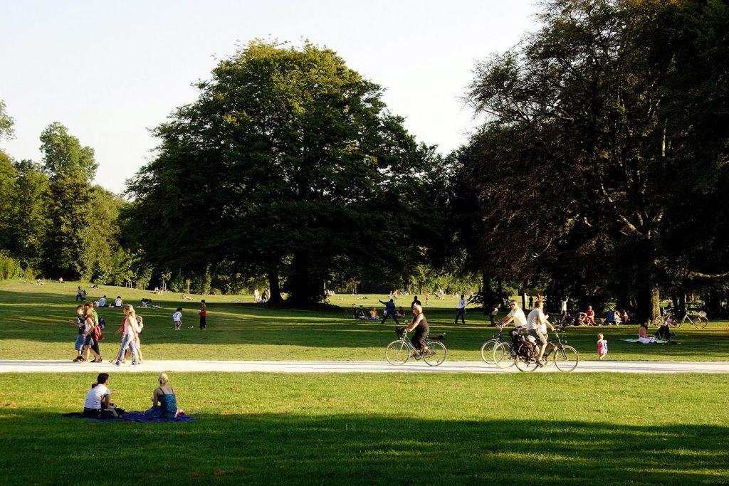 Bicicletas, parque, ambiente, saúde e lazer