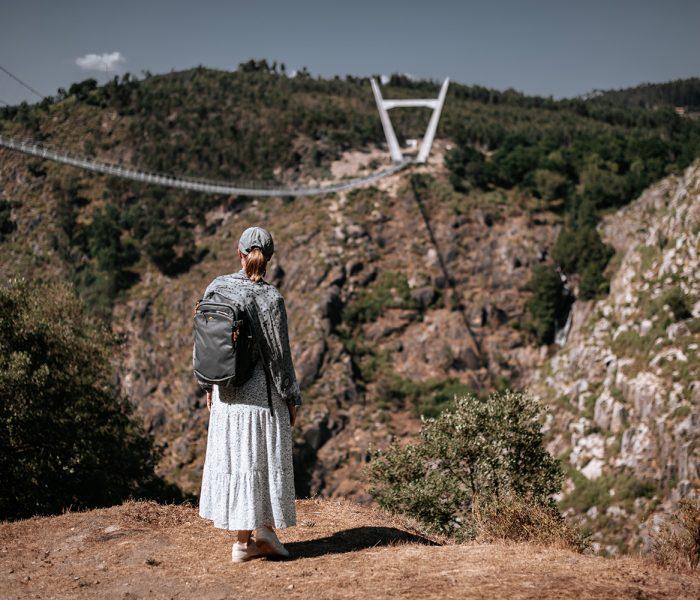 Ponte suspensa, Passadiços do Paiva, Arouca